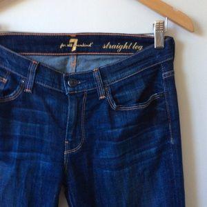 7 for all mankind the straight leg 27 dark wash